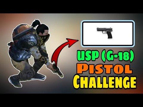 Only USP Pistol (G-18)  Challenge || Garena Free Fire
