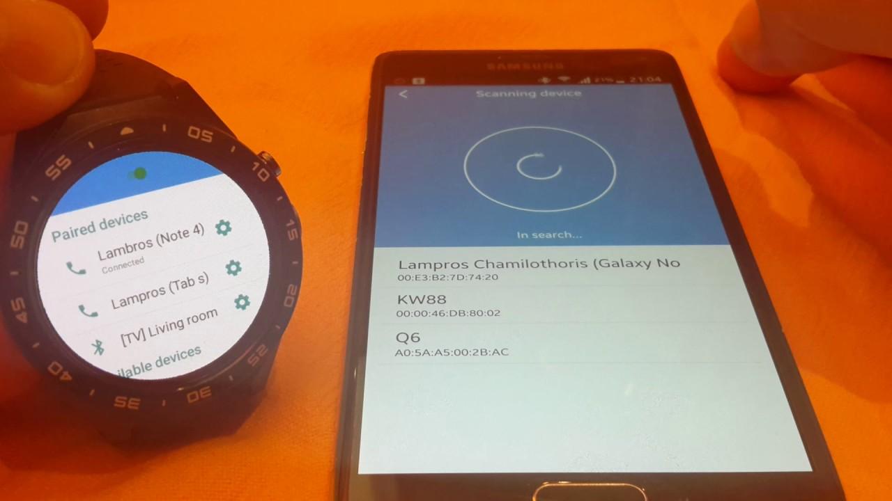 KINGWEAR KW88 - Bluetooth Problem