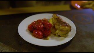 Сырные куриные грудки на гриле с итальянскими томатами
