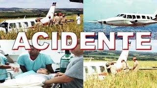 Acidente-Avião do Luciano Huck e Angelica faz pouso forçado no MS
