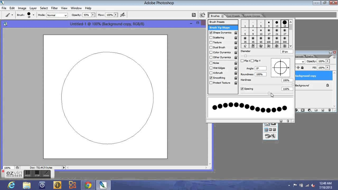 Newbie Know How Photoshop Dotted Circle Tutorial Youtube