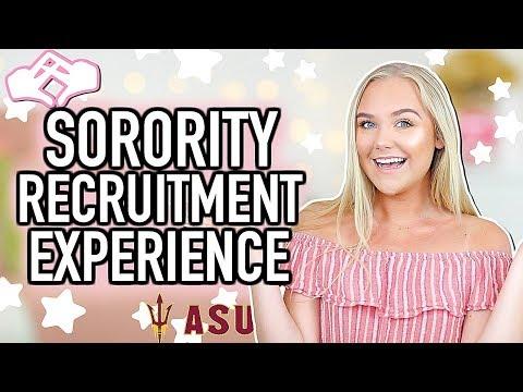 My Sorority Recruitment Experience | Arizona State University