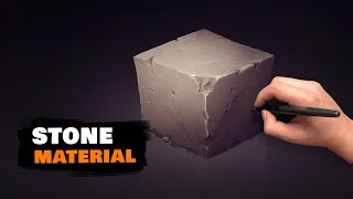 How to Draw Stone | Drawing Material by Sephiroth-art