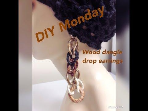 DIY MONDAY DANGLE DROP EARRINGS