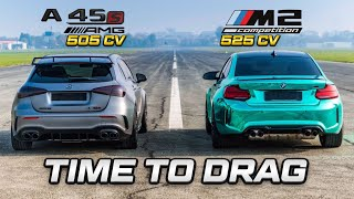 AMG A45 S vs BMW M2 Comp - TIME TO DRAG