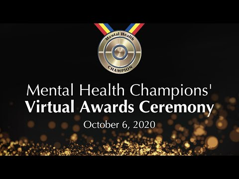 Mental Health Champions' Virtual Awards Ceremony