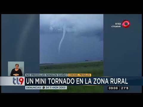 Un mini tornado en la zona rural de Coronel Pringles