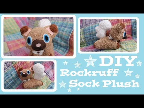 ❤ DIY Rockruff Sock Plush! How to make your own adorable Pokemon ...