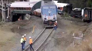 Video NTSB investigating deadly Amtrak crash download MP3, 3GP, MP4, WEBM, AVI, FLV Juni 2018