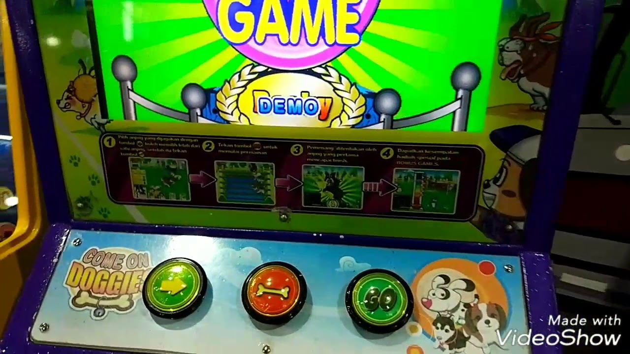 Play come on doggies get 21 coin Indonesian arcade - YouTube
