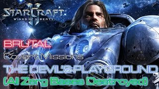 Starcraft II: Wings of Liberty - Brutal - Mission 6: The Devil's Playground B (All Bases Destroyed)