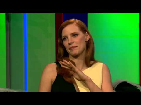 Jessica Chastain on 'The One Show' [Oct. 31st, 2014]