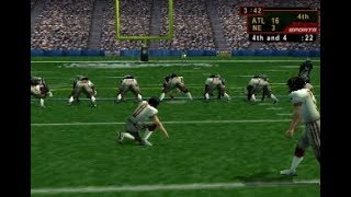 NFL Quarterback Club 2001 - Atlanta Falcons vs New England Patriots Full Game (N64)
