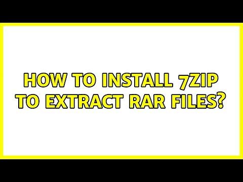 Install 7zip