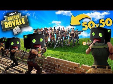 50 ARAZHULS vs 50 NOOBIES!!! - Fortnite Battle Royal [Deutsch/HD]