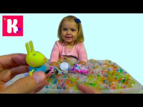 Орбиз сюрпризы игрушки с разноцветными шариками в искусственном снегу Orbeez