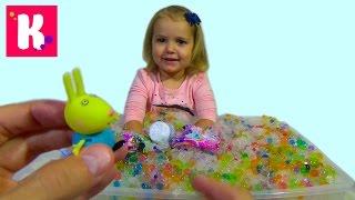 Орбиз сюрпризы игрушки с разноцветными шариками в искуственном снегу Orbeez surprise toys unboxing