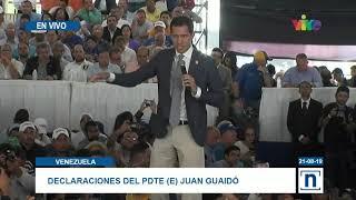 Presidente (E) Juan Guaidó participó en acto junto a dirigentes municipales y regionales