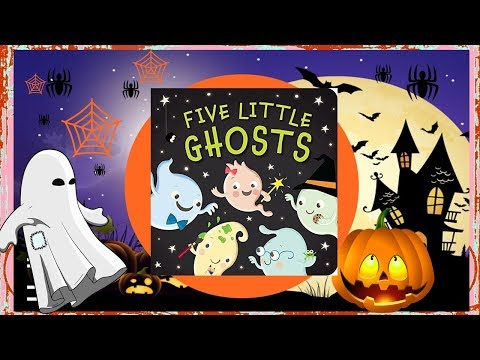 Halloween Story For Kids  Five Little Ghosts 👻