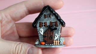 Part 1.Create a miniature house for Halloween. Polymer clay.Tutorial. DIY.Миниатюрный дом Хеллоуин.