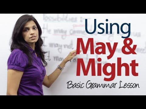 Using May and Might  Basic English Grammar Lesson