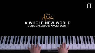 "Mena Massoud, Naomi Scott– A Whole New World Piano Cover (Movie ""Aladdin 2019"" OST)"