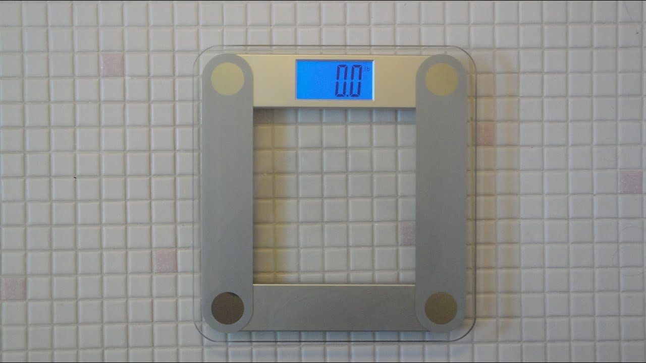 eatsmart esbs-01 digital bathroom scale review - youtube