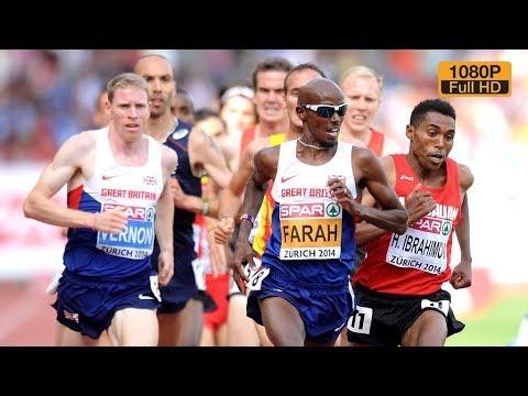 Mo Farah At 5000m European Champ Zurich 2014
