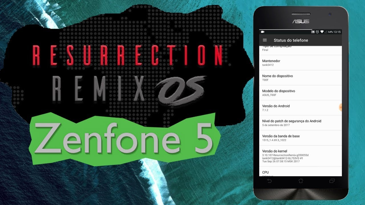 Como Instalar Resurrection Remix 7 1 Zenfone 5 T00J/T00F