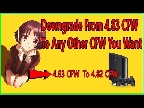 How To Downgrade your PS3 from Any 4.83 CFW To Rebug CFW Jailbreak PS3 Only