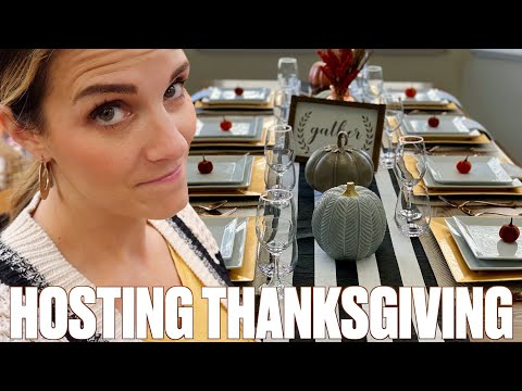 HOW TO HOST THE PERFECT THANKSGIVING FAMILY FEAST! THANKSGIVING DINNER GROCERY SHOPPING HAUL