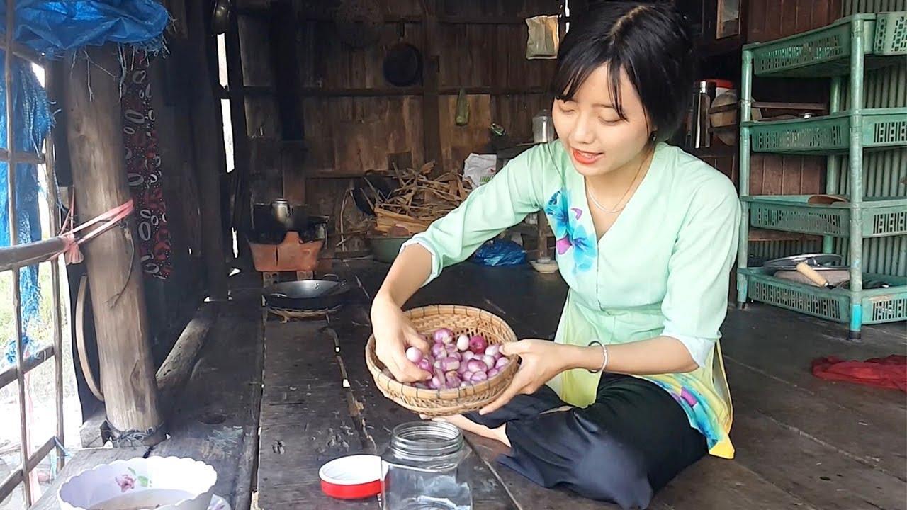 Hành tím ngâm giấm chua ngọt  | Thôn Nữ Miền Tây