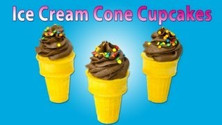 Cupcakes In An Ice Cream Cone. How To Make A Cupcake Ice Cream Cone By Cookies, Cupcakes And Cardio