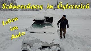 Leben im Auto | Heftiges Schneechaos in Österreich