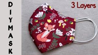 Best Fit 3 Layers Face Mask Face Mask Sewing Tutorial Easy New Style Pattern Mask DIY Mask