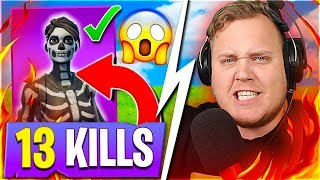 NEW SKIN-LET'S GET a WIN 💀 * 13 KILL GAME * 😱:: Dansk Fortnite