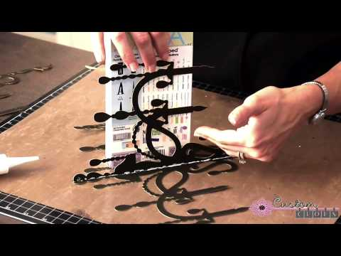 Spooky Chandelier (Step 2)   Using Cricut Home Decor Cartridge   YouTube
