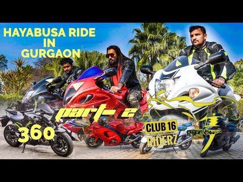 Part- 2 Suzuki Hayabusa ride in Gurgaon 2018 India (Anup Rao Dundahera in Club 16 riderz) 360 video
