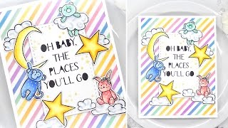How To: Colorful LITTLE DREAMERS Card w/Kelly