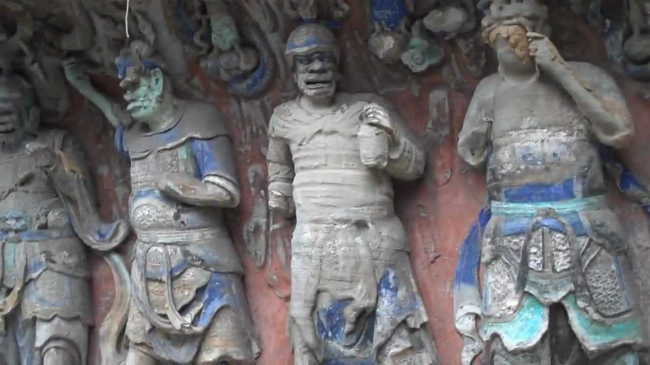 Dazu rock carvings china youtube