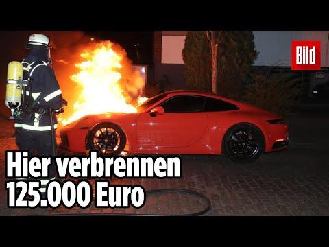 Ausgangssperre in Hamburg: Chaoten zünden Porsche an