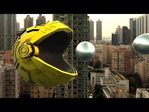 Pac Man Giant Robot Over Hong Kong - 4