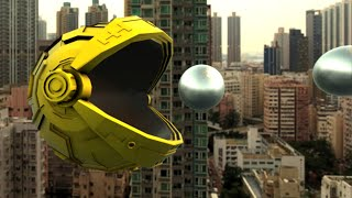 Pac Man Giant Robot Over Hong Kong - 4