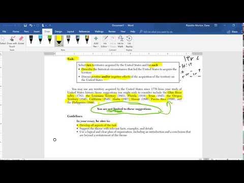 US History Regents Part II Thematic Essay Rubric