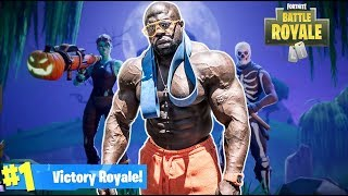 FORTNITE BATTLE ROYALE w/ KALI MUSCLE (New Smoke Grenades) | Kali Muscle
