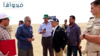 بالفيديو: محافظ شمال سيناء يقود حملات إزالة التعديات على أملاك الدولة فى ترعة السلام