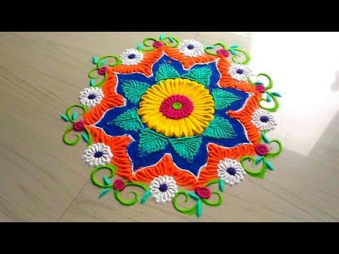 How to make festival rangoli designs by jyoti Rathod