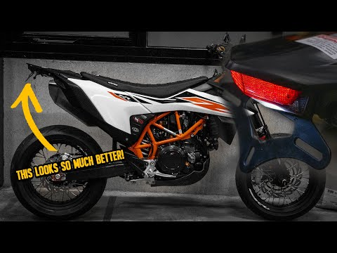 TAIL TIDY AND REMOVABLE INDICATORS FOR MY KTM 690 SMC-R! - CRASHKINGS 2020 BUILD EP 4