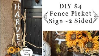 DIY Fall Porch Sign | Fence Picket Sign Tutorial