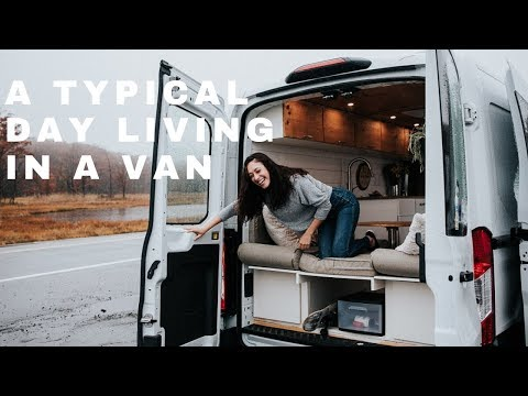 A Normal Day of Van Life as a Solo Female Traveler with a Dog